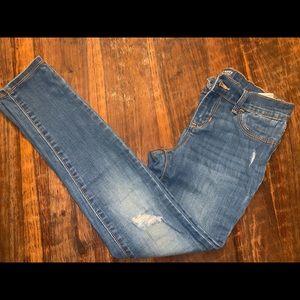 Old navy kids 10 regular Jean leggings distressed
